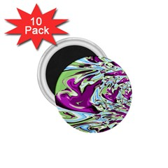 Purple, Green, And Blue Abstract 1 75  Magnets (10 Pack)
