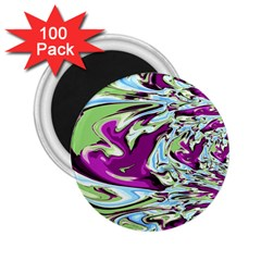 Purple, Green, and Blue Abstract 2.25  Magnets (100 pack)