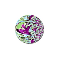Purple, Green, And Blue Abstract Golf Ball Marker (4 Pack)
