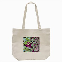 Purple, Green, And Blue Abstract Tote Bag (cream)