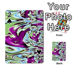 Purple, Green, and Blue Abstract Playing Cards 54 Designs
