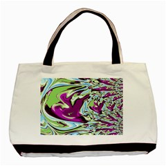 Purple, Green, And Blue Abstract Basic Tote Bag