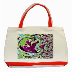 Purple, Green, And Blue Abstract Classic Tote Bag (red)