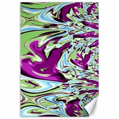 Purple, Green, and Blue Abstract Canvas 12  x 18