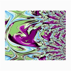 Purple, Green, And Blue Abstract Small Glasses Cloth (2 Side)
