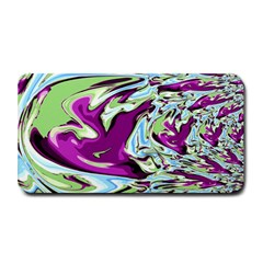 Purple, Green, and Blue Abstract Medium Bar Mats