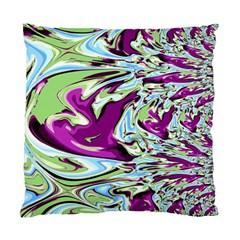 Purple, Green, And Blue Abstract Standard Cushion Cases (two Sides)