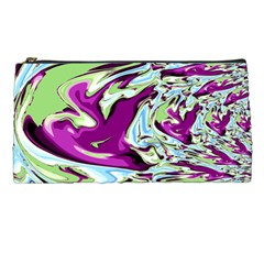 Purple, Green, And Blue Abstract Pencil Cases