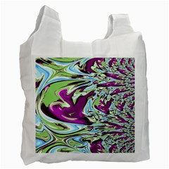 Purple, Green, and Blue Abstract Recycle Bag (Two Side)