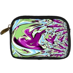Purple, Green, and Blue Abstract Digital Camera Cases