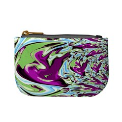 Purple, Green, and Blue Abstract Mini Coin Purses