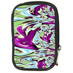 Purple, Green, And Blue Abstract Compact Camera Cases