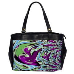 Purple, Green, and Blue Abstract Office Handbags