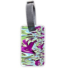 Purple, Green, and Blue Abstract Luggage Tags (Two Sides)