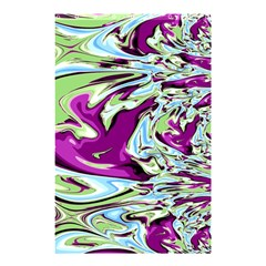 Purple, Green, and Blue Abstract Shower Curtain 48  x 72  (Small)