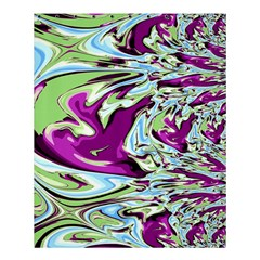 Purple, Green, And Blue Abstract Shower Curtain 60  X 72  (medium)