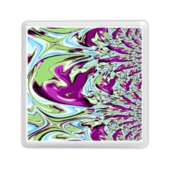 Purple, Green, and Blue Abstract Memory Card Reader (Square)