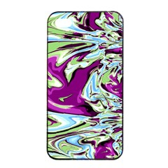 Purple, Green, and Blue Abstract Apple iPhone 4/4s Seamless Case (Black)