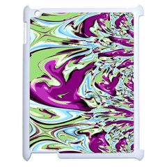 Purple, Green, And Blue Abstract Apple Ipad 2 Case (white)