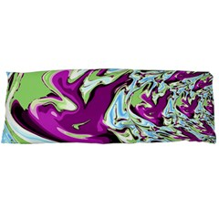 Purple, Green, And Blue Abstract Body Pillow Cases (dakimakura)