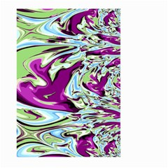 Purple, Green, And Blue Abstract Large Garden Flag (two Sides)