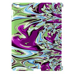 Purple, Green, and Blue Abstract Apple iPad 3/4 Hardshell Case (Compatible with Smart Cover)