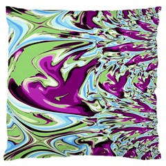 Purple, Green, And Blue Abstract Large Cushion Cases (one Side)
