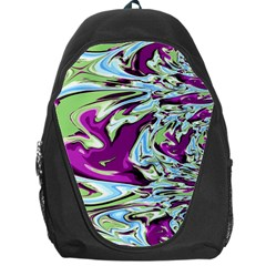 Purple, Green, and Blue Abstract Backpack Bag