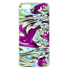 Purple, Green, And Blue Abstract Apple Iphone 5 Seamless Case (white)