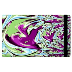 Purple, Green, and Blue Abstract Apple iPad 3/4 Flip Case