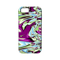 Purple, Green, And Blue Abstract Apple Iphone 5 Classic Hardshell Case (pc+silicone)