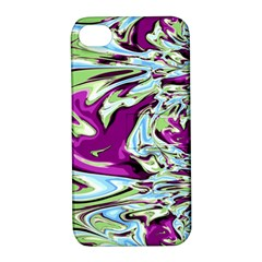 Purple, Green, and Blue Abstract Apple iPhone 4/4S Hardshell Case with Stand