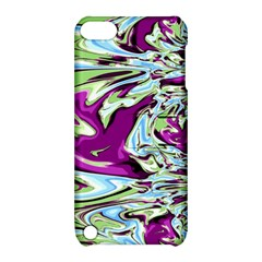 Purple, Green, and Blue Abstract Apple iPod Touch 5 Hardshell Case with Stand