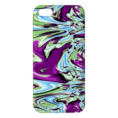 Purple, Green, And Blue Abstract Apple Iphone 5 Premium Hardshell Case