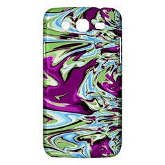 Purple, Green, and Blue Abstract Samsung Galaxy Mega 5.8 I9152 Hardshell Case