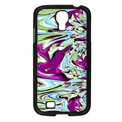 Purple, Green, and Blue Abstract Samsung Galaxy S4 I9500/ I9505 Case (Black)