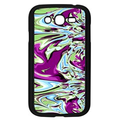 Purple, Green, And Blue Abstract Samsung Galaxy Grand Duos I9082 Case (black)
