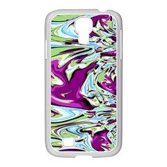 Purple, Green, and Blue Abstract Samsung GALAXY S4 I9500/ I9505 Case (White)