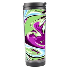 Purple, Green, and Blue Abstract Travel Tumblers