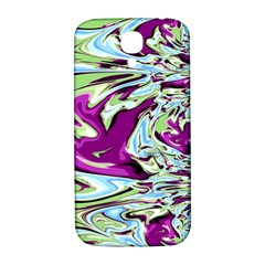 Purple, Green, and Blue Abstract Samsung Galaxy S4 I9500/I9505  Hardshell Back Case