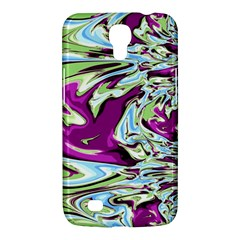 Purple, Green, And Blue Abstract Samsung Galaxy Mega 6 3  I9200 Hardshell Case