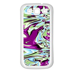 Purple, Green, And Blue Abstract Samsung Galaxy S3 Back Case (white)
