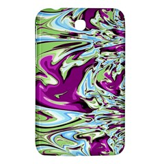 Purple, Green, and Blue Abstract Samsung Galaxy Tab 3 (7 ) P3200 Hardshell Case