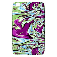 Purple, Green, and Blue Abstract Samsung Galaxy Tab 3 (8 ) T3100 Hardshell Case
