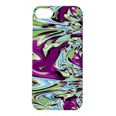 Purple, Green, and Blue Abstract Apple iPhone 5S Hardshell Case