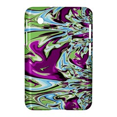 Purple, Green, and Blue Abstract Samsung Galaxy Tab 2 (7 ) P3100 Hardshell Case