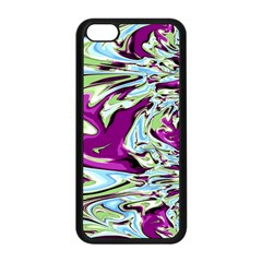 Purple, Green, And Blue Abstract Apple Iphone 5c Seamless Case (black)