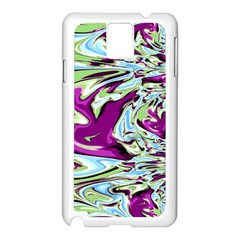 Purple, Green, and Blue Abstract Samsung Galaxy Note 3 N9005 Case (White)