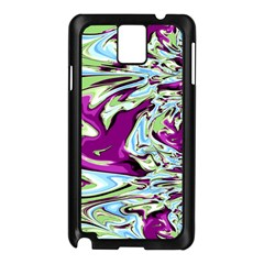 Purple, Green, and Blue Abstract Samsung Galaxy Note 3 N9005 Case (Black)