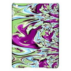 Purple, Green, and Blue Abstract iPad Air Hardshell Cases